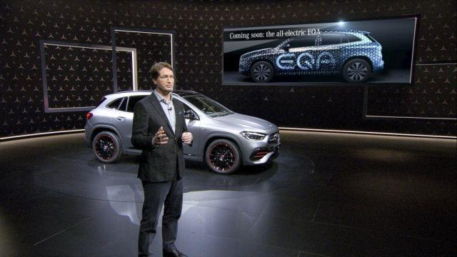 Mercedes-Benz offers first official teaser of all-electric EQA