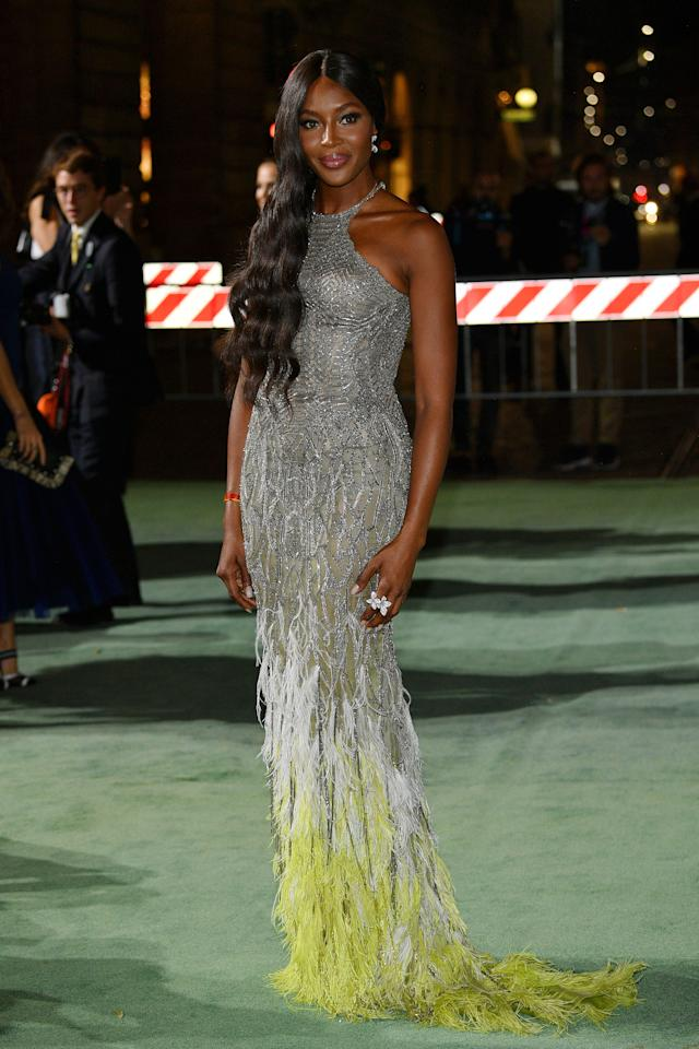 <p>Naomi Campbell attends the Green Carpet Fashion Awards.</p>