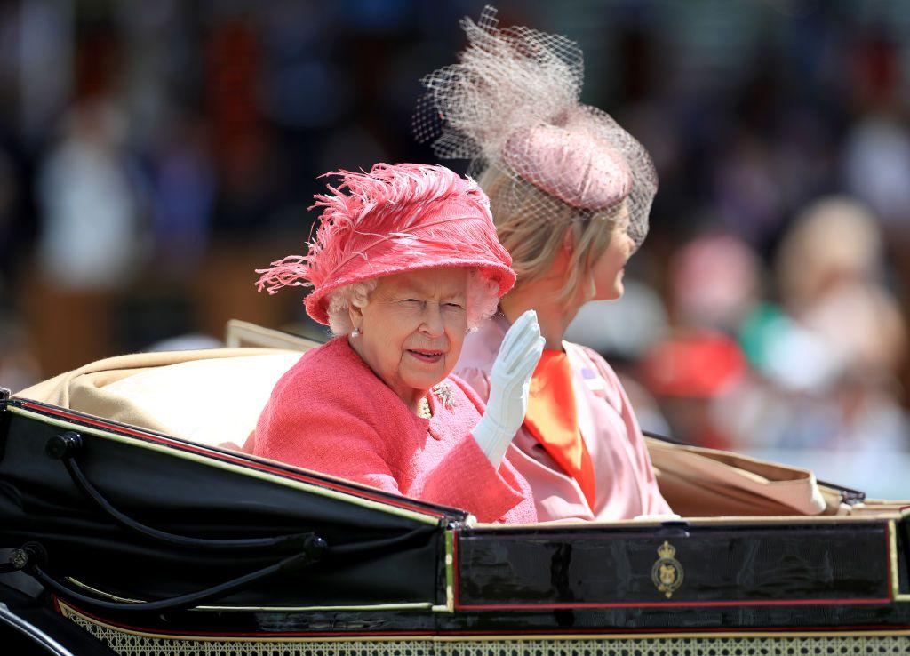 <p>The British monarch arrived via carriage, and sat alongside Lady Helen Taylor, the daughter of the Duke and Duchess of Kent.</p>