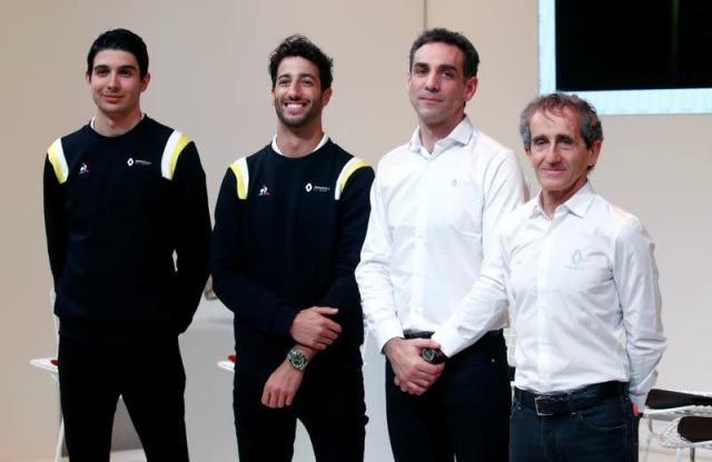 Renault F1 Team holds a news conference ahead of the new Formula One 2020 season, in Paris