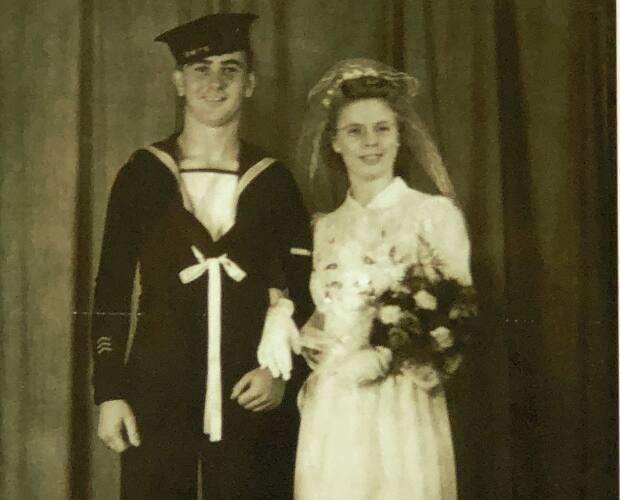 Jack and Mary Jane Durnford on their wedding day in 1944.