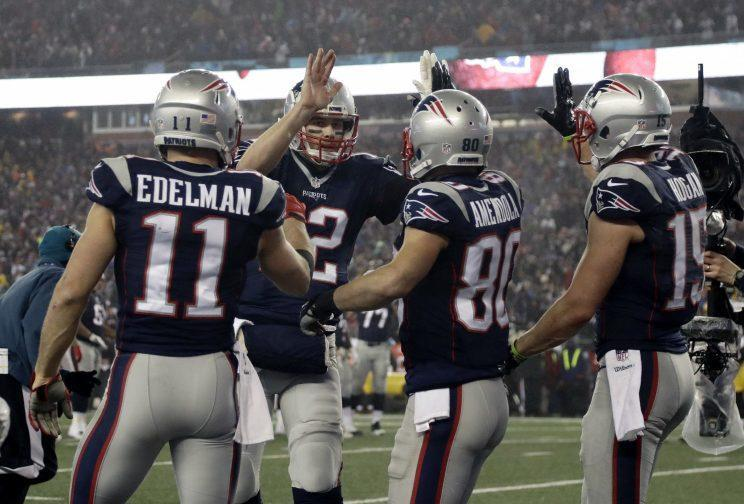 Tom Brady and the Patriots are going to the Super Bowl for the ninth time. (AP)