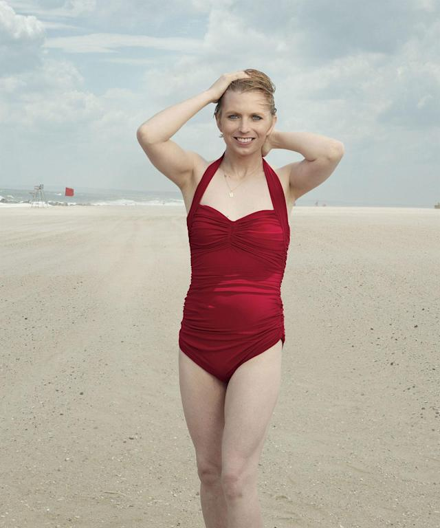 Chelsea Manning posed for <i>Vogue</i> in a Normal Kamali swimsuit and spoke to the magazine about her life. (Photo: Annie Leibovitz/Vogue)