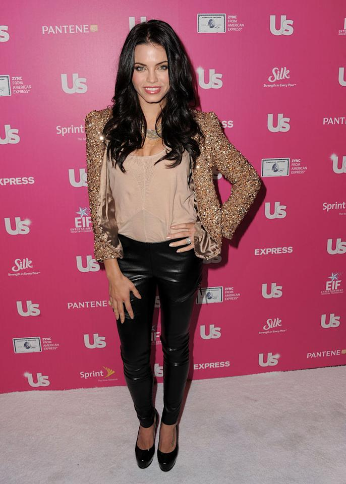 "Channing Tatum's better half, ""Step Up"" actress Jenna Dewan, sported a gold spangled jacket Betty White would kill for while on the red carpet. Jordan Strauss/<a href=""http://www.wireimage.com"" target=""new"">WireImage.com</a> - November 18, 2010"