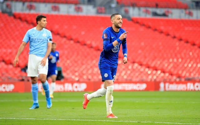 Hakim Ziyech scored the only goal as Chelsea beat Manchester City 1-0 in the first FA Cup semi-final