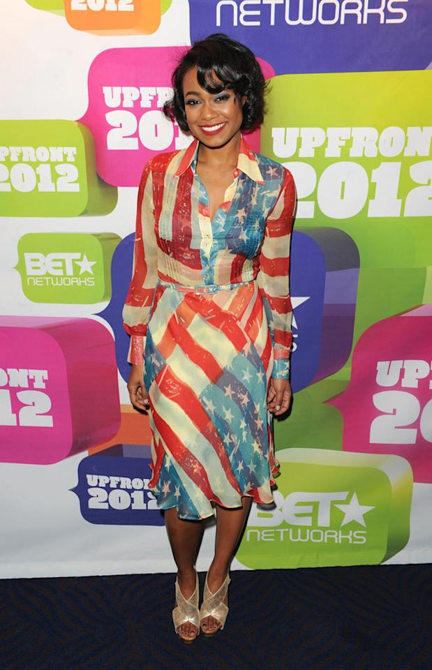 """Tatyana Ali (""""Second Generation Wayans"""") attends BET's 2012 Upfront event at the Best Buy Theater on April 18, 2012 in New York City."""