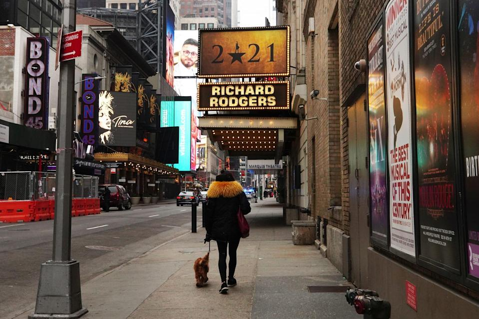 Broadway theaters in Times Square