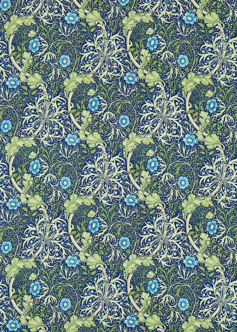 Weaweed wallpaper by Morris & Co.; to the trade. stylelibrary.com