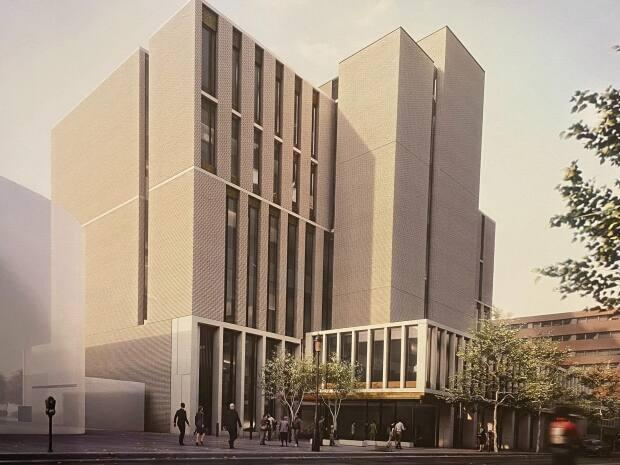 The new Fredericton courthouse is expected to be completed by 2025. (Joe McDonald/CBC - image credit)