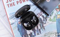 The Galaxy Buds Pro are Samsung's most complete set of true wireless earbuds yet. Unfortunately, they're also the most expensive. The sound quality is the best of any Galaxy Buds device thus far and truly effective ANC works well. Features like hands-free Bixby, automatically switching to ambient sound when you speak and wireless charging round out a compelling package.