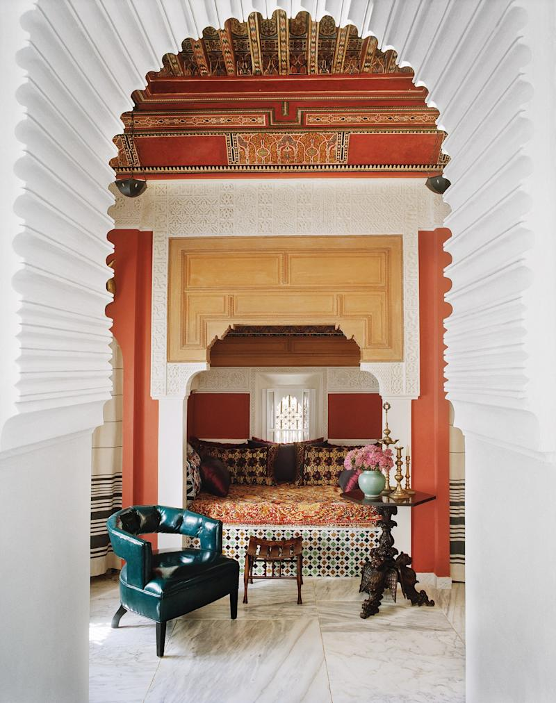 From Vogue Living: Country, City, Coast. The Moroccan home of Bruno Frisoni.