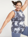 """<p><strong>Old Navy</strong></p><p>oldnavy.gap.com</p><p><strong>$19.99</strong></p><p><a href=""""https://go.redirectingat.com?id=74968X1596630&url=https%3A%2F%2Foldnavy.gap.com%2Fbrowse%2Fproduct.do%3Fpcid%3D1042659%26pid%3D505340&sref=https%3A%2F%2Fwww.goodhousekeeping.com%2Fclothing%2Fg35139110%2Fbest-plus-size-workout-clothes%2F"""" rel=""""nofollow noopener"""" target=""""_blank"""" data-ylk=""""slk:Shop Now"""" class=""""link rapid-noclick-resp"""">Shop Now</a></p><p>Old Navy is known for offering inclusive sizing for tall, short, plus-size and <a href=""""https://www.goodhousekeeping.com/childrens-products/g34498315/best-maternity-jeans/"""" rel=""""nofollow noopener"""" target=""""_blank"""" data-ylk=""""slk:maternity fits"""" class=""""link rapid-noclick-resp"""">maternity fits</a>. Plus, the brand is incredibly affordable. Reviewers gave this tank a high rating because it fits comfortably and <strong>comes in fun prints and graphics</strong>.</p>"""