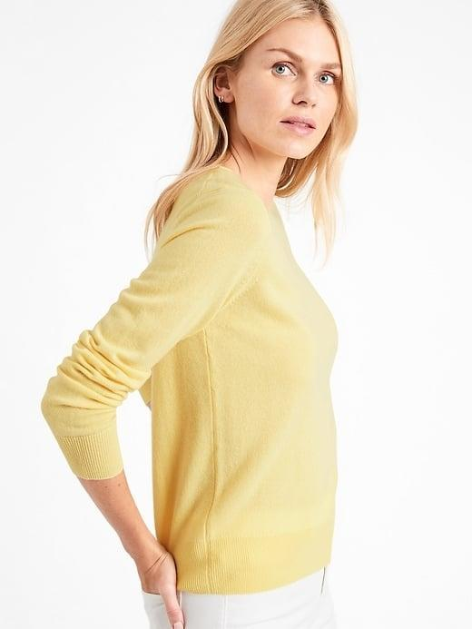 <p>This <span>Banana Republic Cashmere Crew-Neck Sweater</span> ($169) is so sunny and super-soft, too.</p>