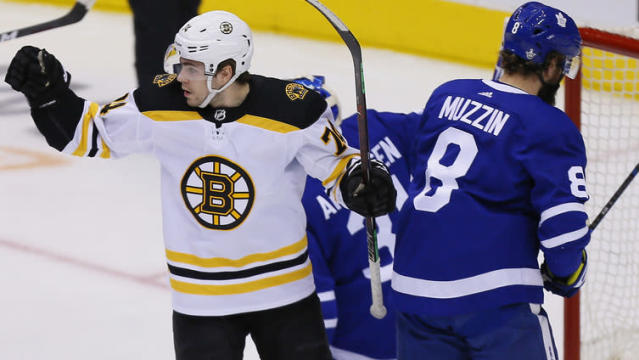Jake Debrusk has been very involved in this first-round series … just not in the scoring department. The Bruins winger would like to change that.