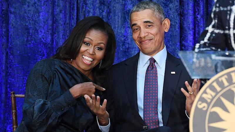 The Obamas celebrate their Oscar nomination