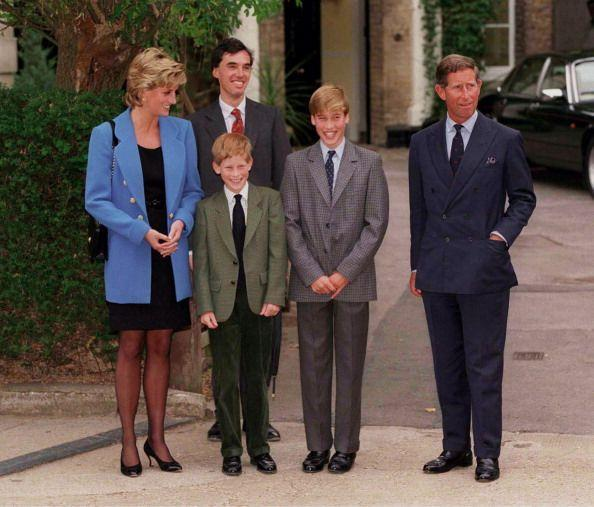 <p>The royal family knows how to celebrate a big day. Here, they join together to drop off Prince William on his first day at Eton College on September 16, 1995.</p>