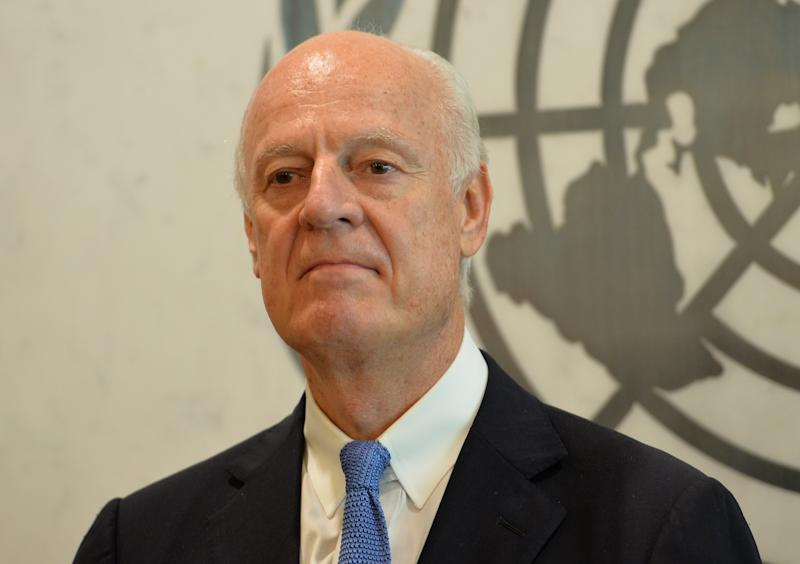 New United Nations Special Envoy for Syria, Staffan de Mistura at UN headquarters in New York on July 17, 2014
