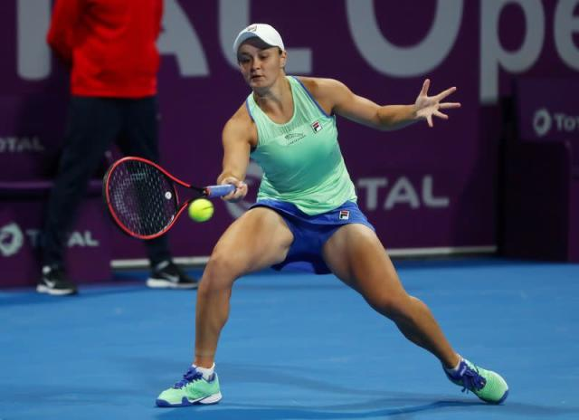 FILE PHOTO: Tennis-'Tricky' for Barty to maintain training intensity in shutdown