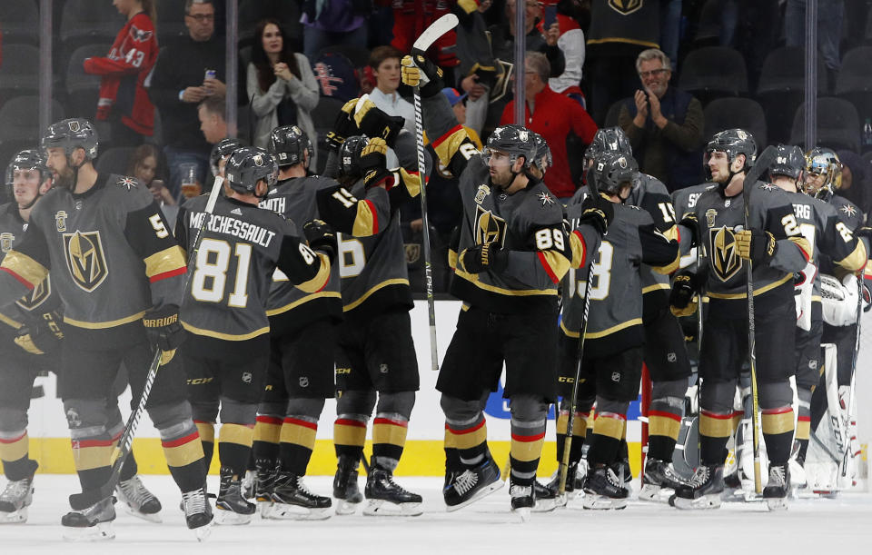 Barring a monumental collapse, the Vegas Golden Knights are already the best expansion club in NHL history. (AP Photo/John Locher)