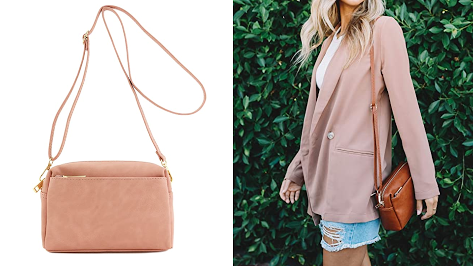 This petite purse can be carried a multitude of ways.