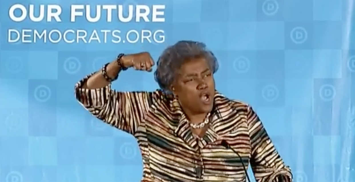 Donna Brazile. Screengrab from the DNC Winter meeting in Atlanta. (via @TheDemocrats/Twitter)
