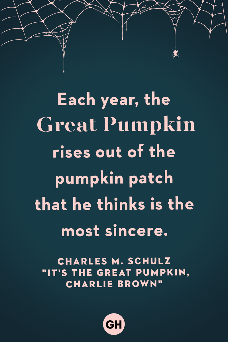 <p>Each year, the Great Pumpkin rises out of the pumpkin patch that he thinks is the most sincere.</p>