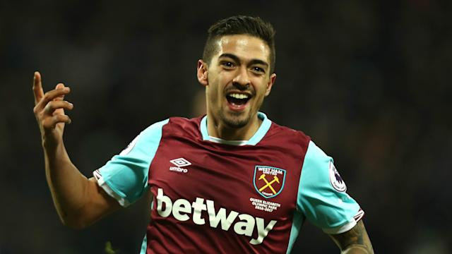 """Rumours of a move to Liverpool have not distracted West Ham's Manuel Lanzini, who says he remains """"very, very happy"""" at London Stadium."""