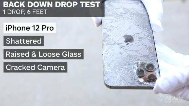 iPhone 12 Pro drop test