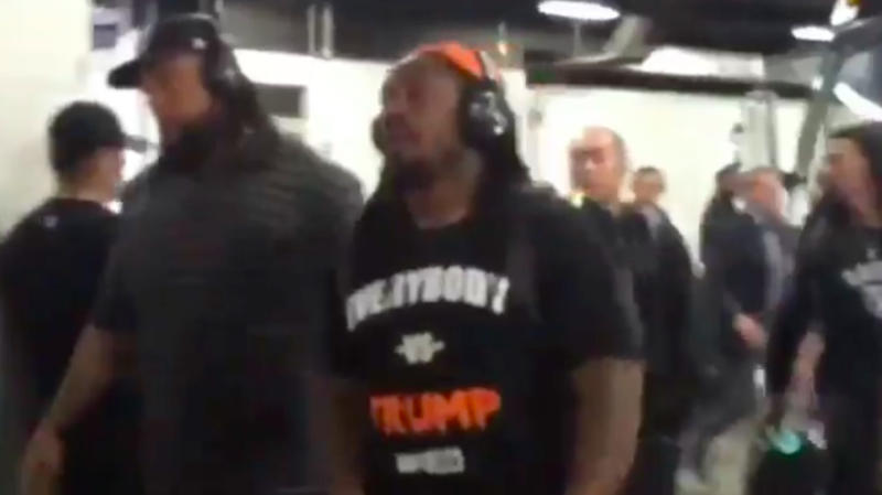 Marshawn Lynch Showed Up On Game Day Wearing 'Everybody vs. Trump' Shirt