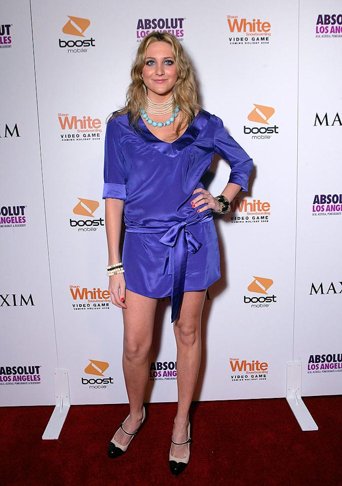 """Hills"" costar Stephanie Pratt misses the mark in this purple mess. Todd Williamson/<a href=""http://www.wireimage.com"" target=""new"">WireImage.com</a> - July 31, 2008"