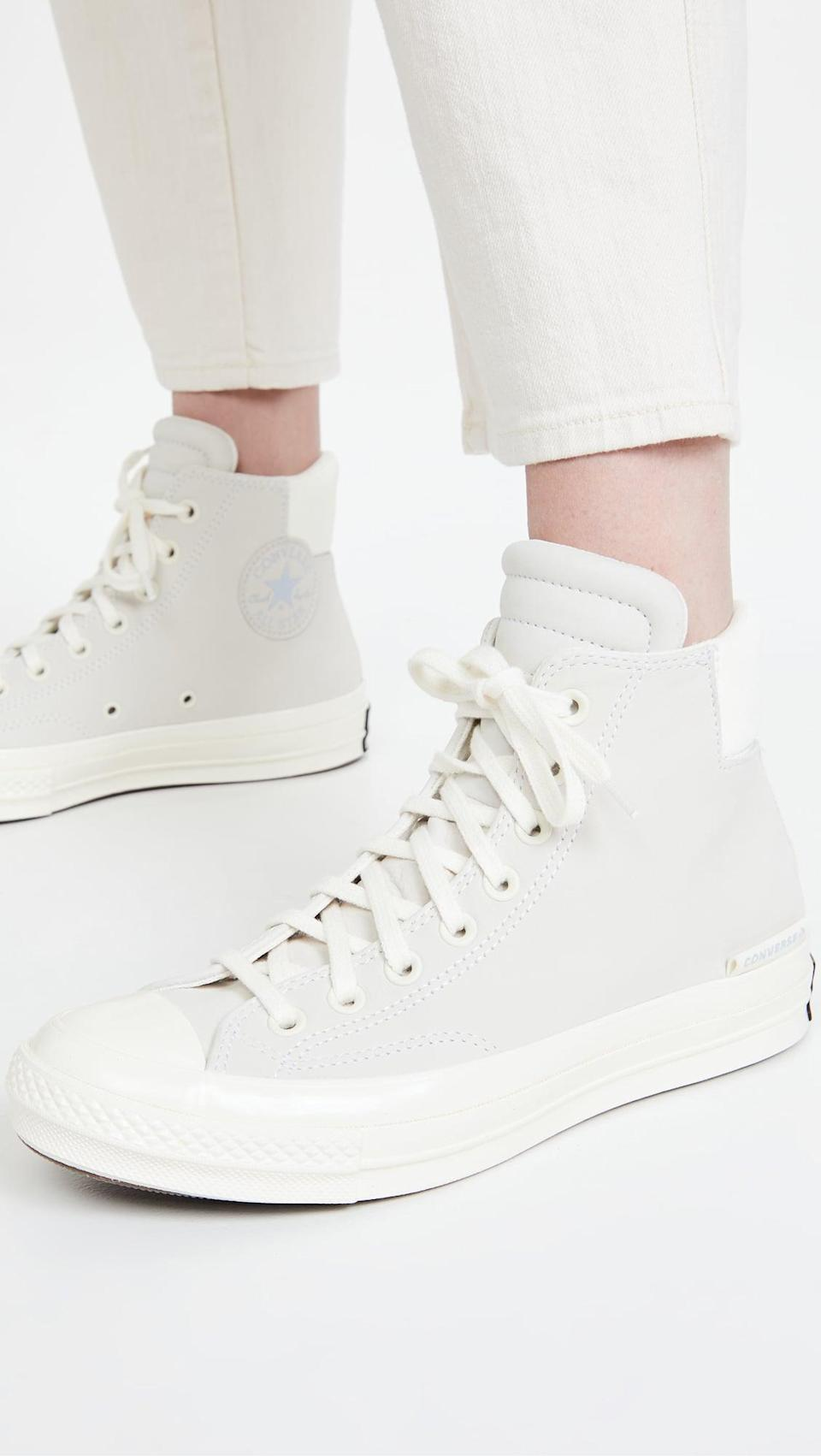 <p>These <span>Converse Chuck 70 Padded Collar High-Top Sneakers</span> ($95) are a wardrobe essential.</p>