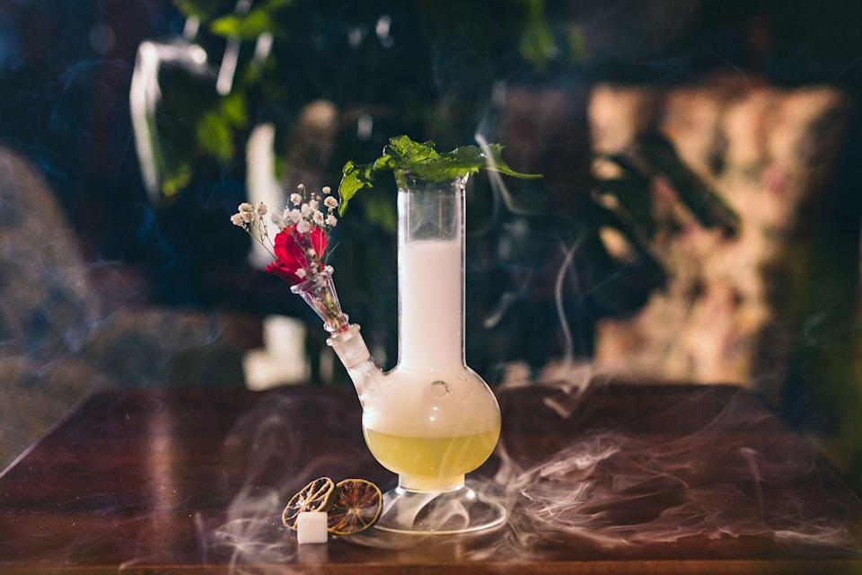"""<p>A gin specialist with on-hand gin experts who are so clued up they can provide you with a brief history lesson on the origins of England synonymity with the white spirit, if you're into that sort of thing. Fusing many botanical flavours with pretty much every brand of gin there is, as well as unusual flavours you might not have thought to try, Mr Fogg's is definitely the cocktail bar for gin aficionados. </p><p>There are several Mr Fogg's spin-offs to try. Find out more <a href=""""https://www.mr-foggs.com"""" rel=""""nofollow noopener"""" target=""""_blank"""" data-ylk=""""slk:here"""" class=""""link rapid-noclick-resp"""">here</a> and Mr Fogg's Gin Parlour at 1 New Row, Covent Garden.</p>"""