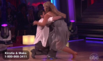 <p>While nailing their routine for the rumba, both Kirstie and her partner, Maksim Chmerkovskiy, suddenly fell to the ground. It was later revealed that Maks, out of nowhere, got a charley horse cramp in his leg, which caused the incident. Thankfully, they still received a great score, despite their incredibly awkward fumble. </p>