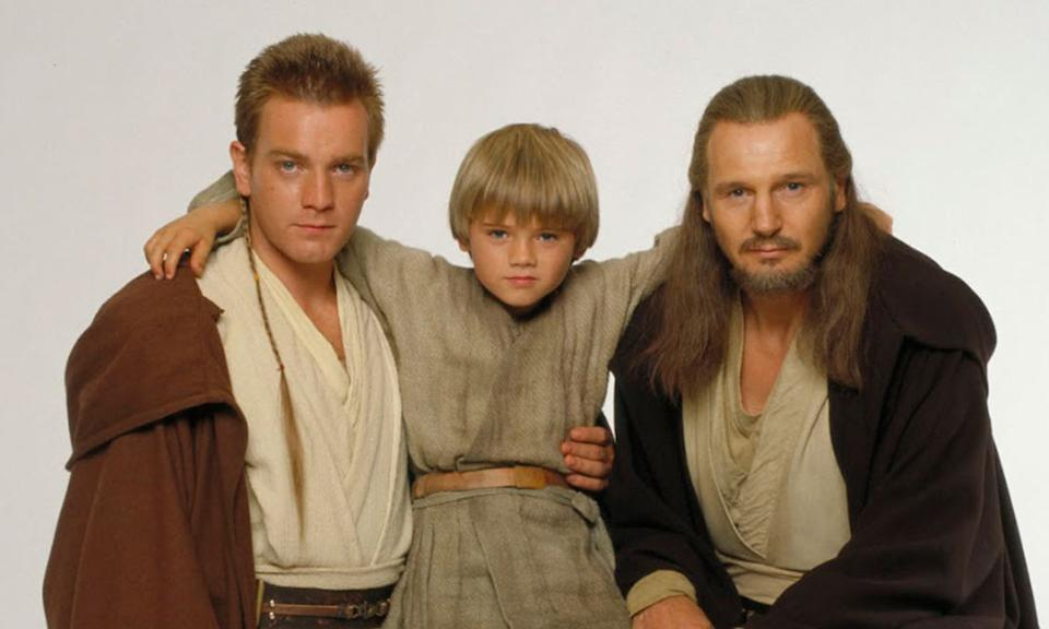 Ewan McGregor, Jake Lloyd and Liam Neeson in a promotional still for Star Wars: The Phantom Menace. (20th Century Fox)