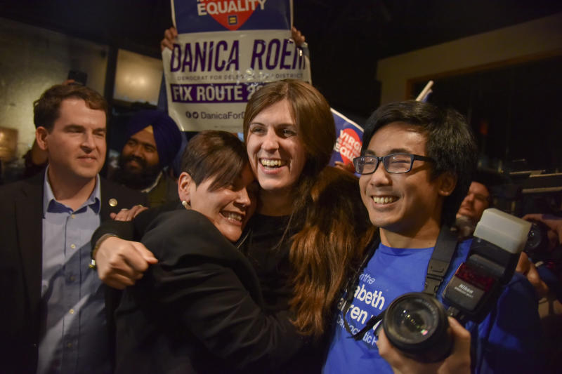 Danica Roem was one of 15 Democrats to win seats previously held by Republicans in the Virginia House of Delegates this November. (The Washington Post via Getty Images)