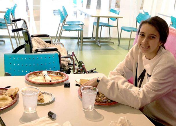 PHOTO: Bella Pacini, 14, sat next to the seat she left out at Thanksgiving for the donor who saved her life. (Courtesy Tracy Pacini)
