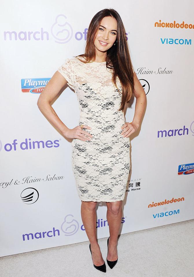 Megan Fox arrives at the March Of Dimes Celebration Of Babies Luncheon at Beverly Hills Hotel on December 7, 2012 in Beverly Hills, California.