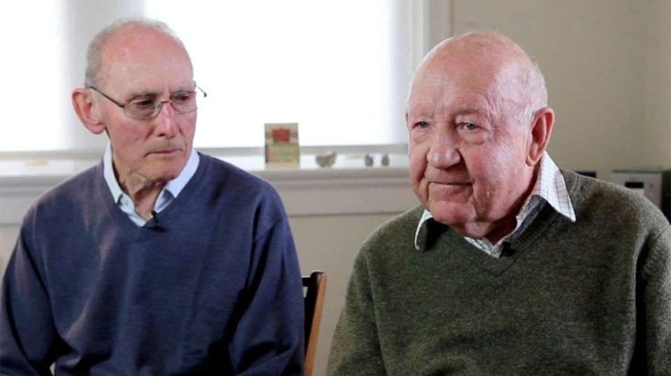Arthur Cheeseman (left) and John Challis (right) plan to marry as soon as possible. Source: The Global Mail Ltd.