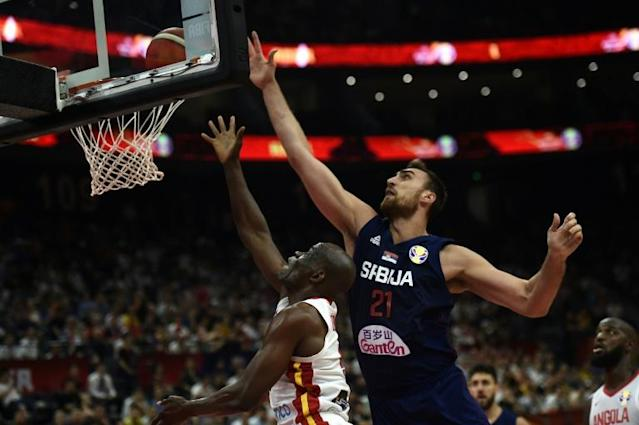 Serbia's towering basketball team are on course to be world champions (AFP Photo/Ye Aung Thu )