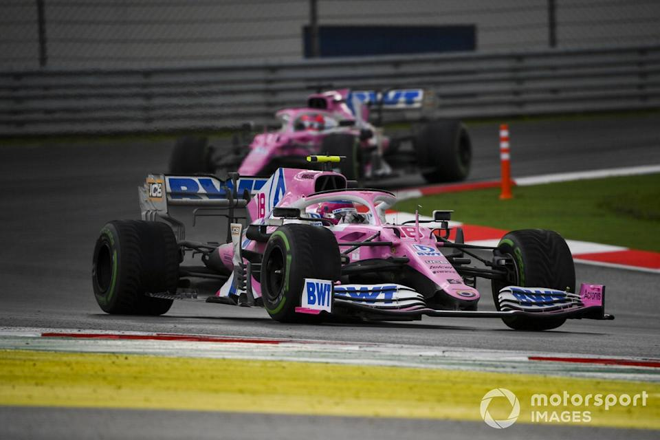 "Lance Stroll, Racing Point RP20, Sergio Pérez, Racing Point RP20<span class=""copyright"">Mark Sutton / Motorsport Images</span>"