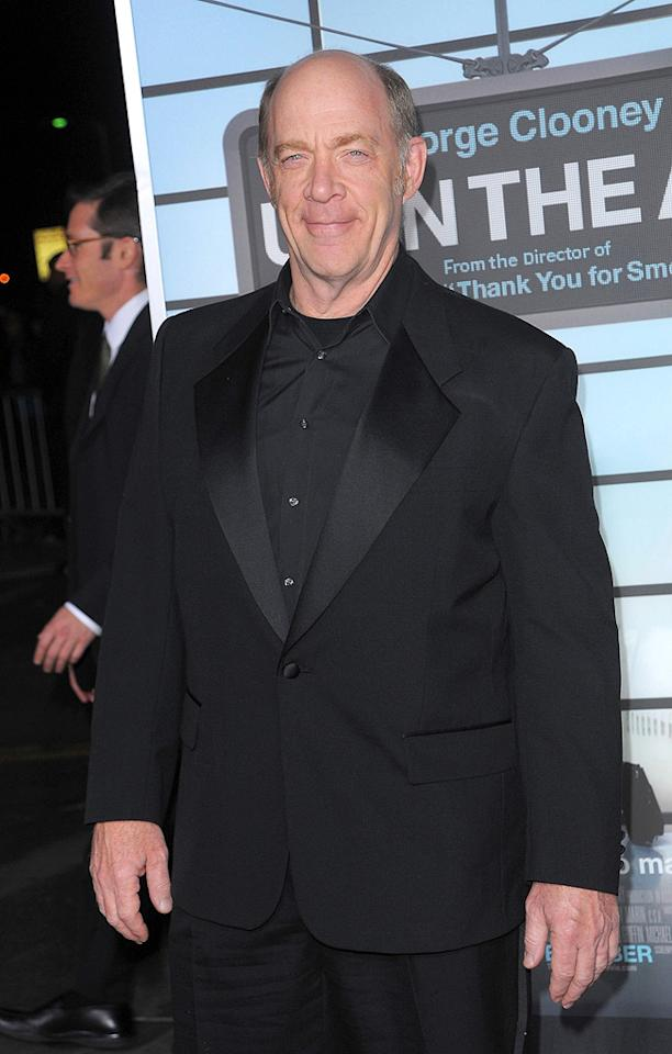"<a href=""http://movies.yahoo.com/movie/contributor/1800307135"">J.K. Simmons</a> at the Los Angeles premiere of <a href=""http://movies.yahoo.com/movie/1810062520/info"">Up in the Air</a> - 11/30/2009"