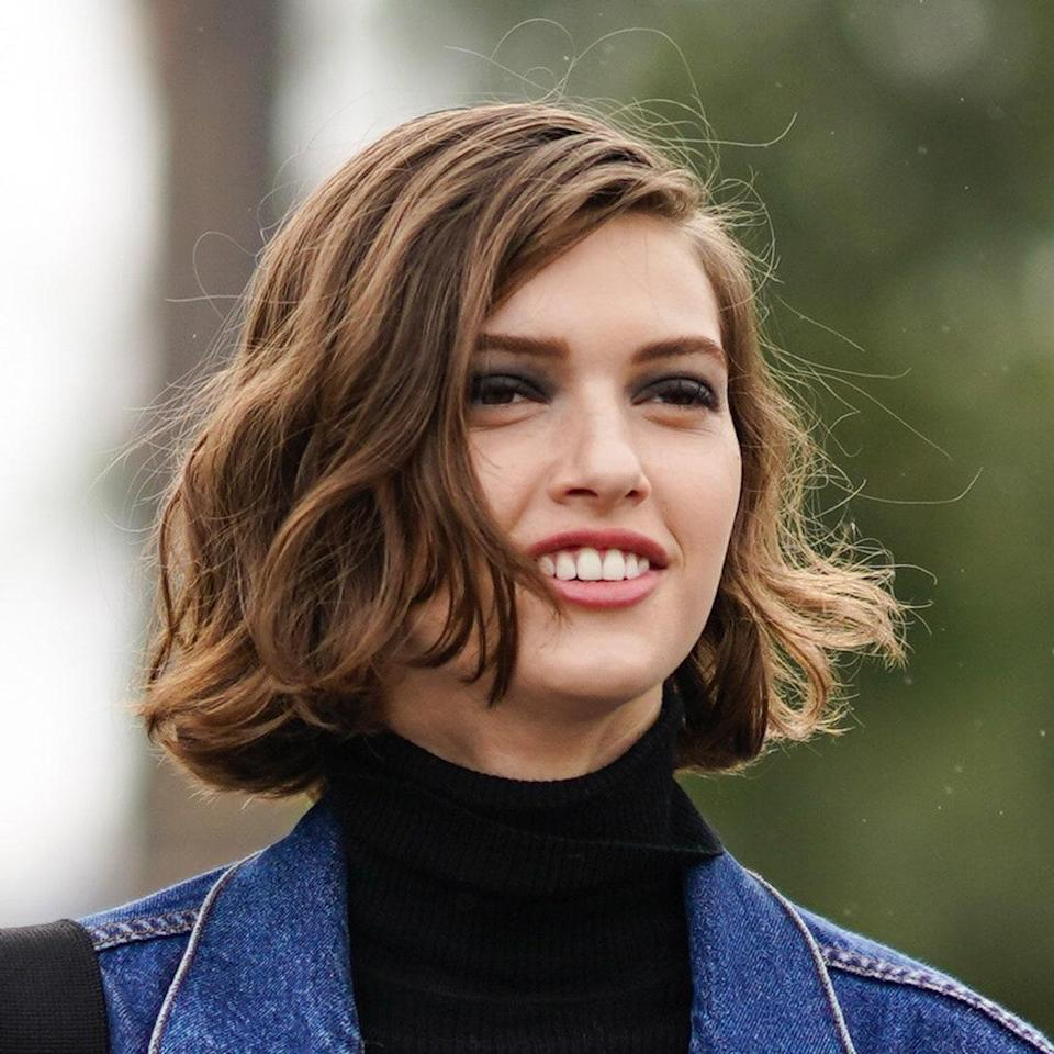 """<p>Short bobs do require a decent degree of maintenance, but we're still seeing cropped cuts like this trending right now. One version of the bob hairstylist <a href=""""https://www.instagram.com/sunniebrook/"""" rel=""""nofollow noopener"""" target=""""_blank"""" data-ylk=""""slk:Sunnie Brook Jones"""" class=""""link rapid-noclick-resp"""">Sunnie Brook Jones</a> says will dominate the season are """"blunt and bouncy with a deep sweep. This can hit at the jaw or longest mid-neck depending on how brave you are and the texture and density of your hair.""""</p> <p>Hairstylist <a href=""""https://www.instagram.com/clarissanya/"""" rel=""""nofollow noopener"""" target=""""_blank"""" data-ylk=""""slk:Clariss Rubenstein"""" class=""""link rapid-noclick-resp"""">Clariss Rubenstein</a> is partial to a particular iteration of this style. """"I love it around chin length,"""" she says. """"Also make sure there is a heavy weight line around the perimeter of the cut — it should be nice and blunt at the bottom.""""</p>"""