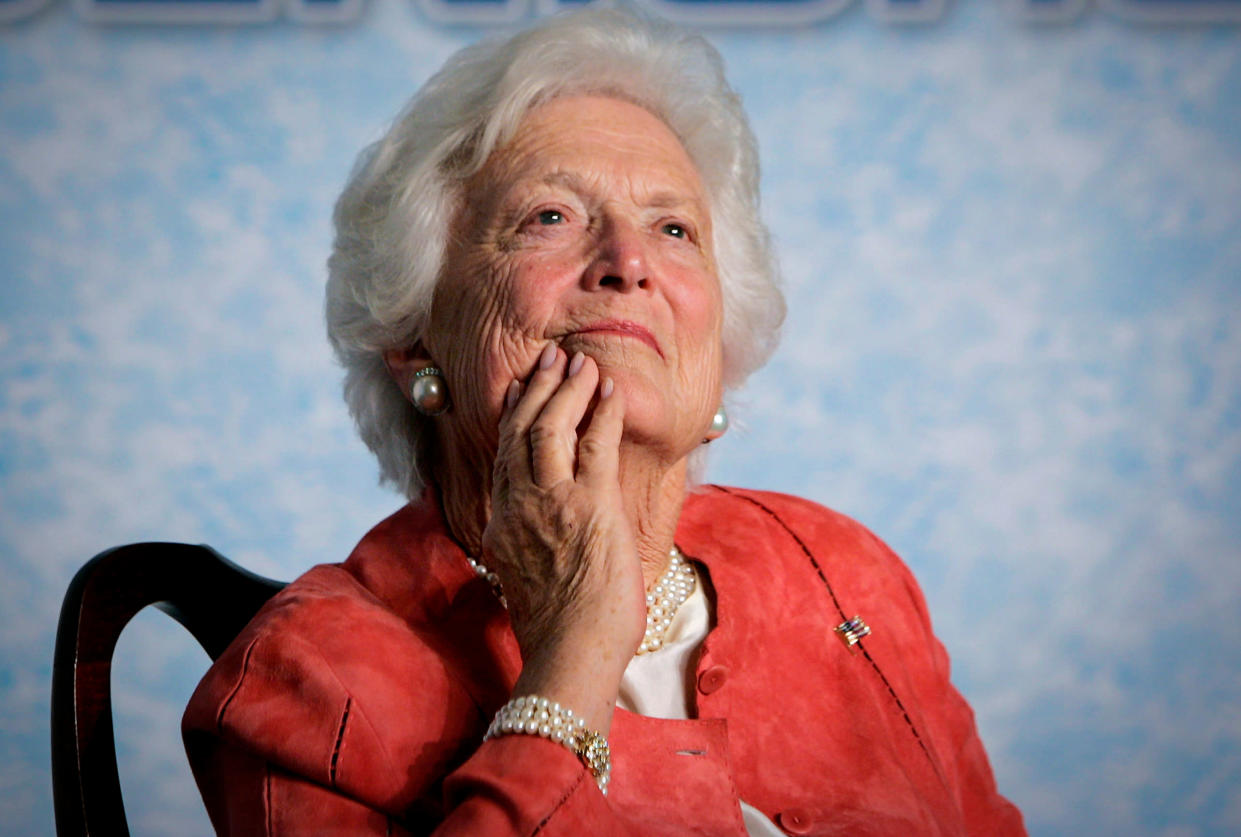 Former first lady Barbara Bush. (Photo: J. Scott Applewhite/AP)