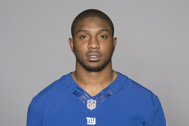 This is a 2013 photo of Jayron Hosley of the New York Giants NFL football team. This image reflects the New York Giants active roster as of Monday, June 10, 2013 when this image was taken. (AP Photo)