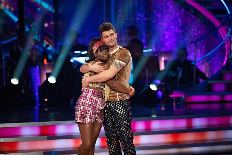 <p>Clara and dance partner Aljaz Škorjane were the fifth couple to exit the Strictly stage</p> (PA)
