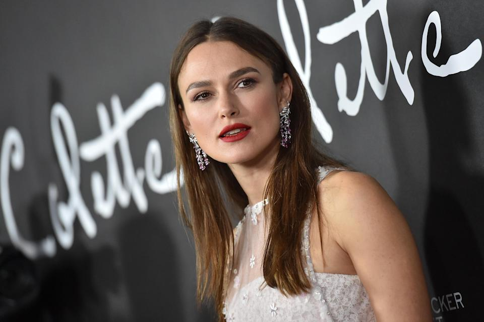 Keira Knightley at the premiere of <em>Colette</em> on Sept. 14 in Beverly Hills. (Photo: Axelle/Bauer-Griffin/FilmMagic)