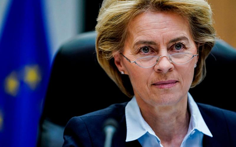 Ursula von der Leyen, the president of the European Commission, is a close ally of Angela Merkel - AFP
