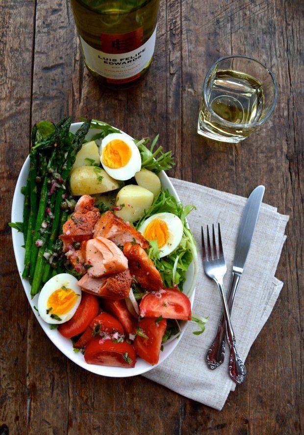 """<strong>Get the <a href=""""http://thewoksoflife.com/2014/05/warm-salmon-salad-nicoise/"""" target=""""_blank"""">Warm Salmon Nicoise Salad recipe</a> from The Woks Of Life</strong>"""