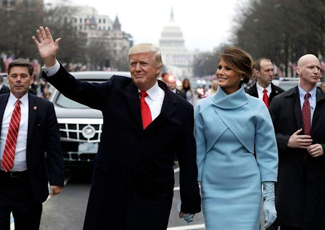 U.S. President Donald Trump waves to supporters with first lady Melania Trump. (Photo: Getty Images)