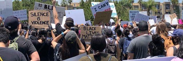 Group of protesters for Black Lives Matters